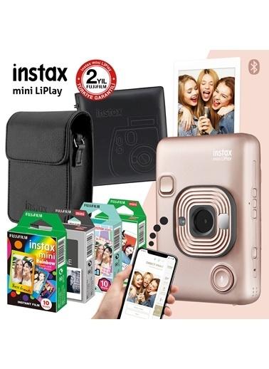 Fujifilm Instax mini LiPlay Hybrid Blush Gold Fotoğraf Makinesi Mega Hediye Seti Altın